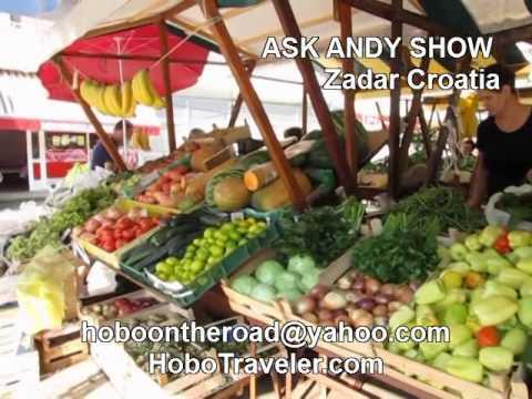 The Market in Zadar Croatia