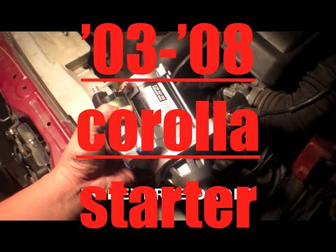 How to replace starter motor Toyota Corolla √