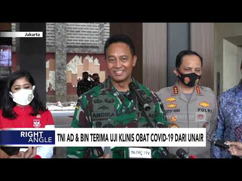 TNI AD dan BIN Terima Uji Klinis Obat Covid-19 dari Unair | CNN INDONESIA