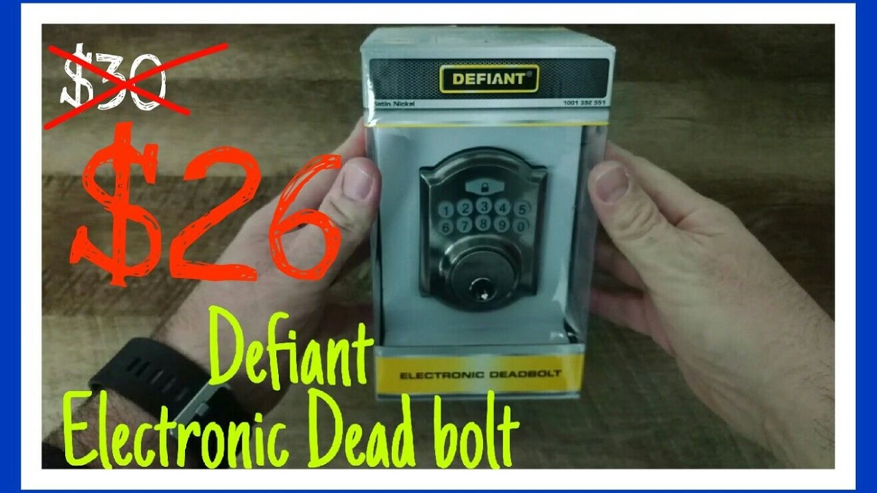 defiant electronic deadbolt
