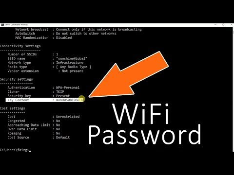 CMD : Show Wi-Fi Password | How To Find Your WiFi Password Windows 10/8/7/XP