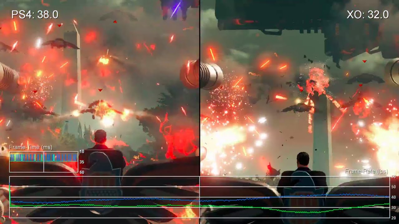 Saints Row 4 Re Elected PS4 Vs Xbox One Gameplay Frame Rate Test YouTube