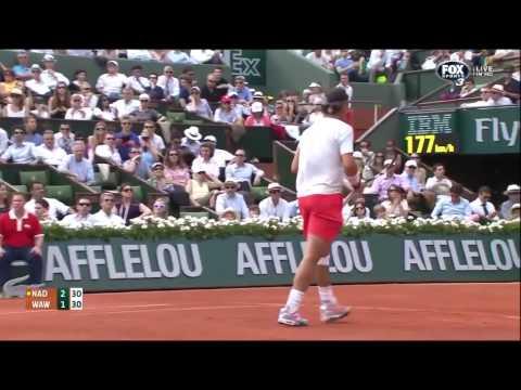 Nadal vs Wawrinka - Roland Garros 2013 Highlights QF