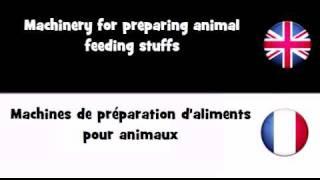 APPRENDRE L'ANGLAIS = Machines de préparation d'aliments pour animaux