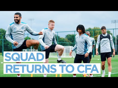 MAN CITY TRAINING - Players report to duty!