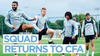 MAN CITY TRAINING - Players report for duty!