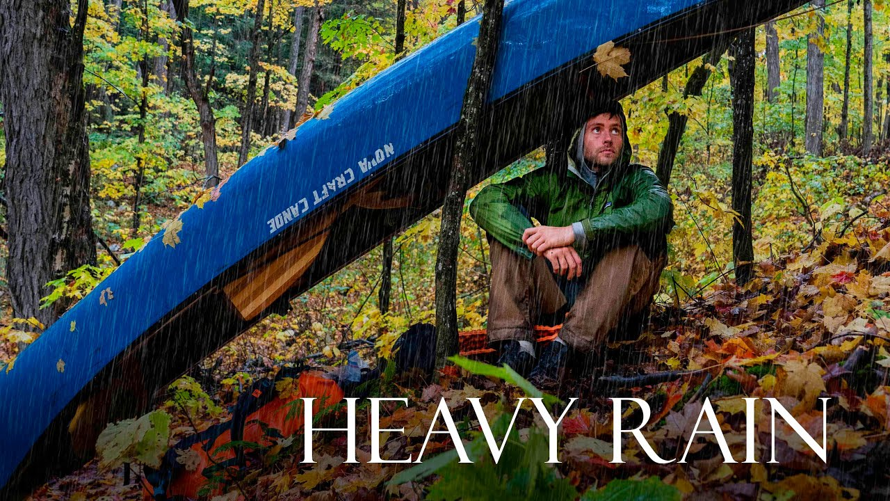 Download 4 Days Solo Fall Camping in Heavy Rain