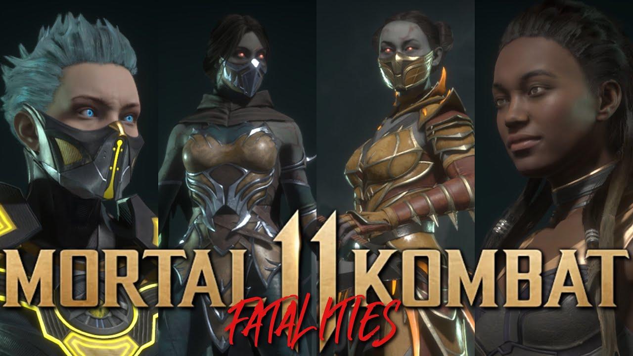 Mortal Kombat 11 All Female Fatalities Hq Youtube