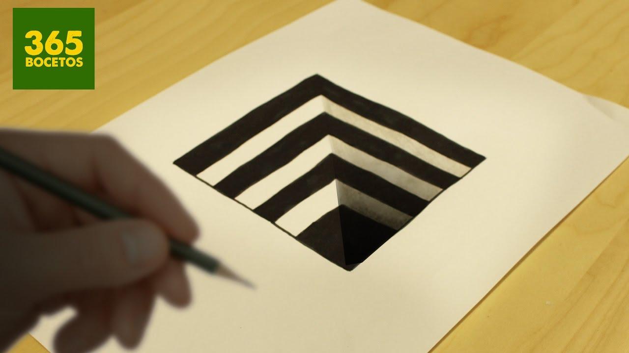 Increible Truco Como Dibujar Un Hoyo En 3d Paso A Paso How To Draw Dibujos 3d A Lapiz Dibujos 3d Faciles Como Dibujar En 3d