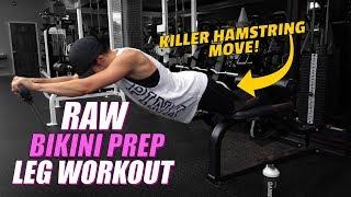 Raw Leg Workout Footage | Bikini Prep Life ep. 17
