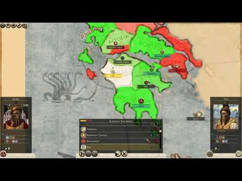 Total War Nations - Sparta #1 Exchanging Naval Bases