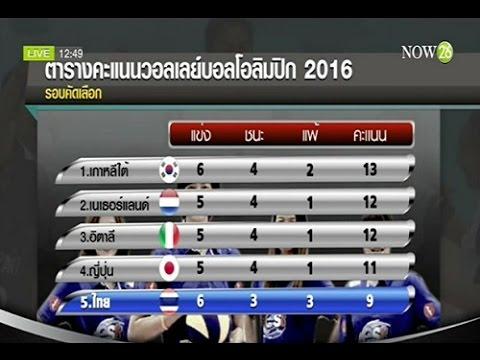 ผลแข่งวอลเลย์บอล คัดโอลิมปิก รอบคัดเลือก