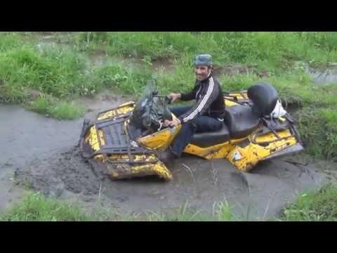 Угарное видео.. С Ишака на Квадрик CAN-AM!  Квадроцикл CAN-AM & Российские дороги - Ржачные видео приколы