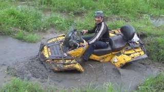 Угарное видео.. С Ишака на Квадрик CAN-AM!  Квадроцикл CAN-AM & Российские дороги