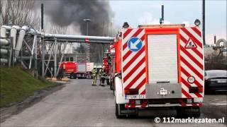 Grote brand met veel rook na explosie bij een bedrijf in Antwerpen