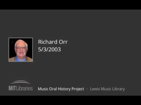 Richard Orr interview, 5/3/2003