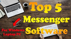 Top 5 Messenger Software for Windows PC, Best Laptop Messaging Software [Hindi]