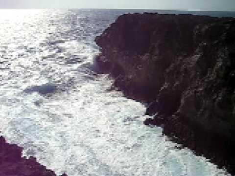 荒々しい波照間島の高那崎