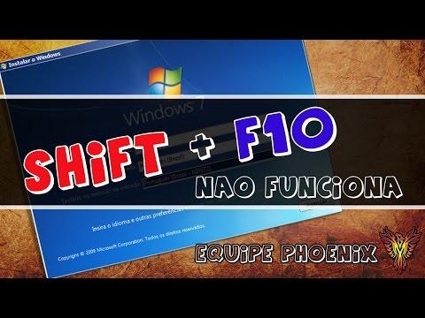 SHIFT + F10 não funciona na hora de converter GPT para MBR - Equipe Phoenix