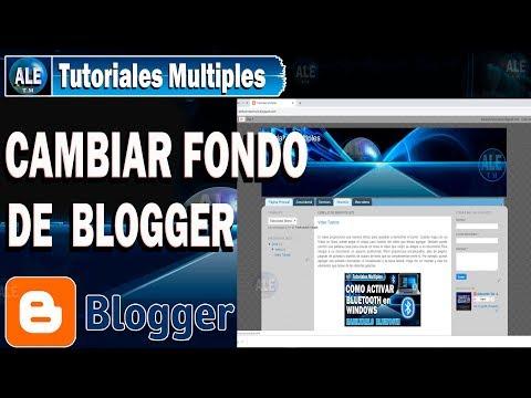 Como cambiar fondo en blogger