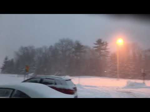 Snowfall and  teribble  weather today February 15, 2019 Quebec City Canada