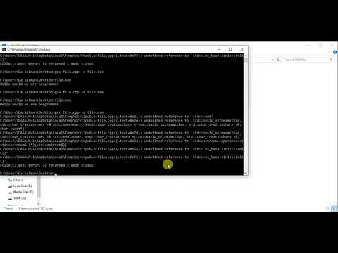 How to compile and run c++ programs using mingw