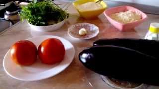 Баклажановая запеканка,  aubergine gratin