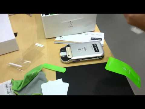HOW TO STICK A SCREEN PROTECTOR AT APPLE STORE