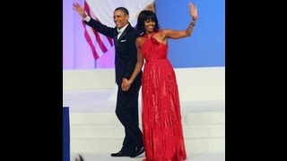 President Obama And Michelle Dances At Inaugural Ball To Jennifer Hudson