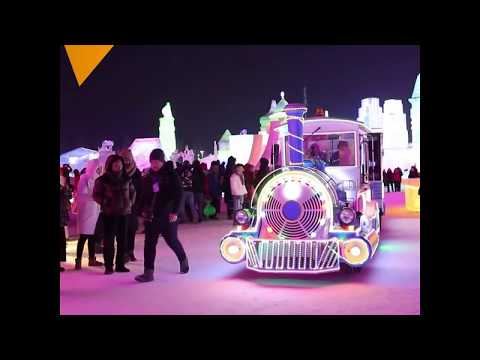 The Annual International Ice Sculpture Competition in Harbin