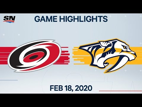 NHL Highlights | Hurricanes vs Predators – Feb. 18, 2020