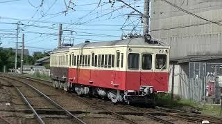仏生山入換中の琴電レトロ電車