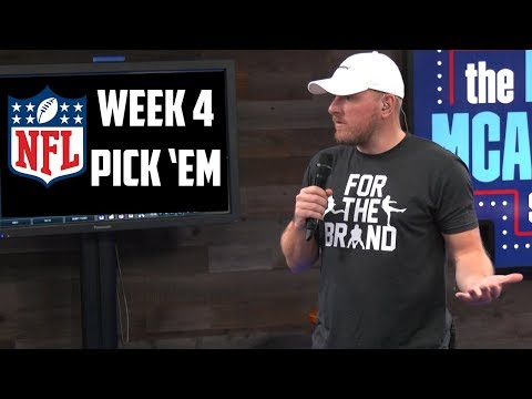 Pat McAfee's NFL Picks for Week 4