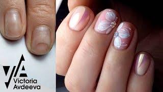 Урок Экспресс Дизайн Ногтей без покрытия Выравнивание ногтей базой
