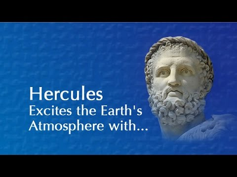 Hercules Excites the Earth's Atmosphere with a Charge of Blue Fire Light