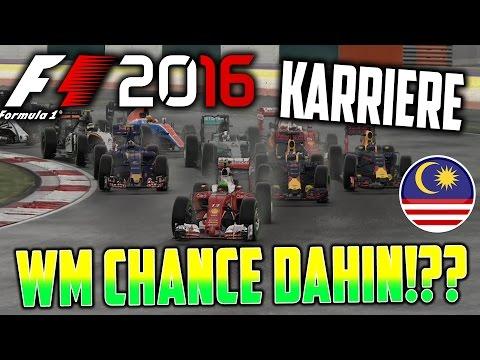 F1 2016 KARRIERE PART 16: WM TRAUM DAHIN!?? TYPISCHES MALAYSIA-WETTER!! (MALAYSIA) [Deutsch/German]