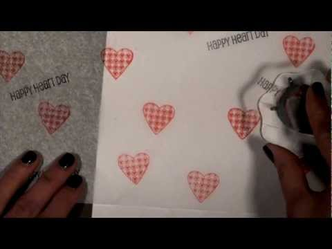 Valentine's Gift Bag and Stamping on Tissue Paper