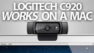 How the Logitech HD Pro Webcam C920 works on a Mac