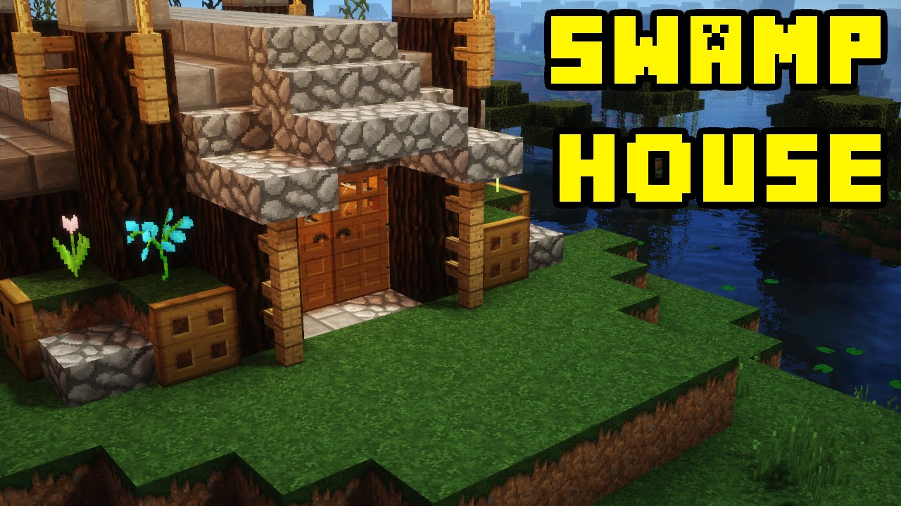 Minecraft advanced swamp house base tutorial xbox pe pc for Jungle house music