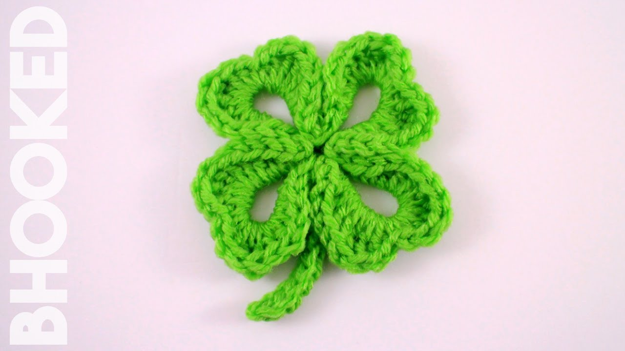 How to Crochet a Four Leaf Clover - YouTube