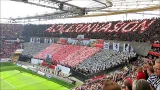 Eintracht Frankfurt Fan Choreo 18.5.2013 - Saisonfinale gegen VfL Wolfsburg (2:2)