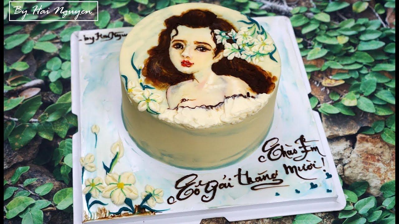 Bánh Sinh Nhật Vẽ Chân Dung Cực Chất – Drawing Portrait On Cake