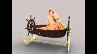 Pirate Boat Crib Piri Reis Concept 3d Model Preview