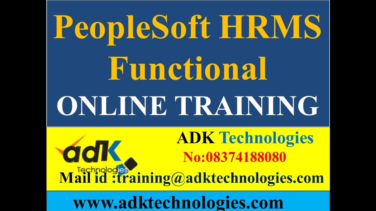Peoplesoft HRMS Functional Online training:Benefits in ...