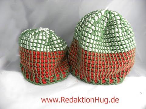 Tunesisch Häkeln Mütze Aus Hatnut Xl 55 Veronika Hug Youtube