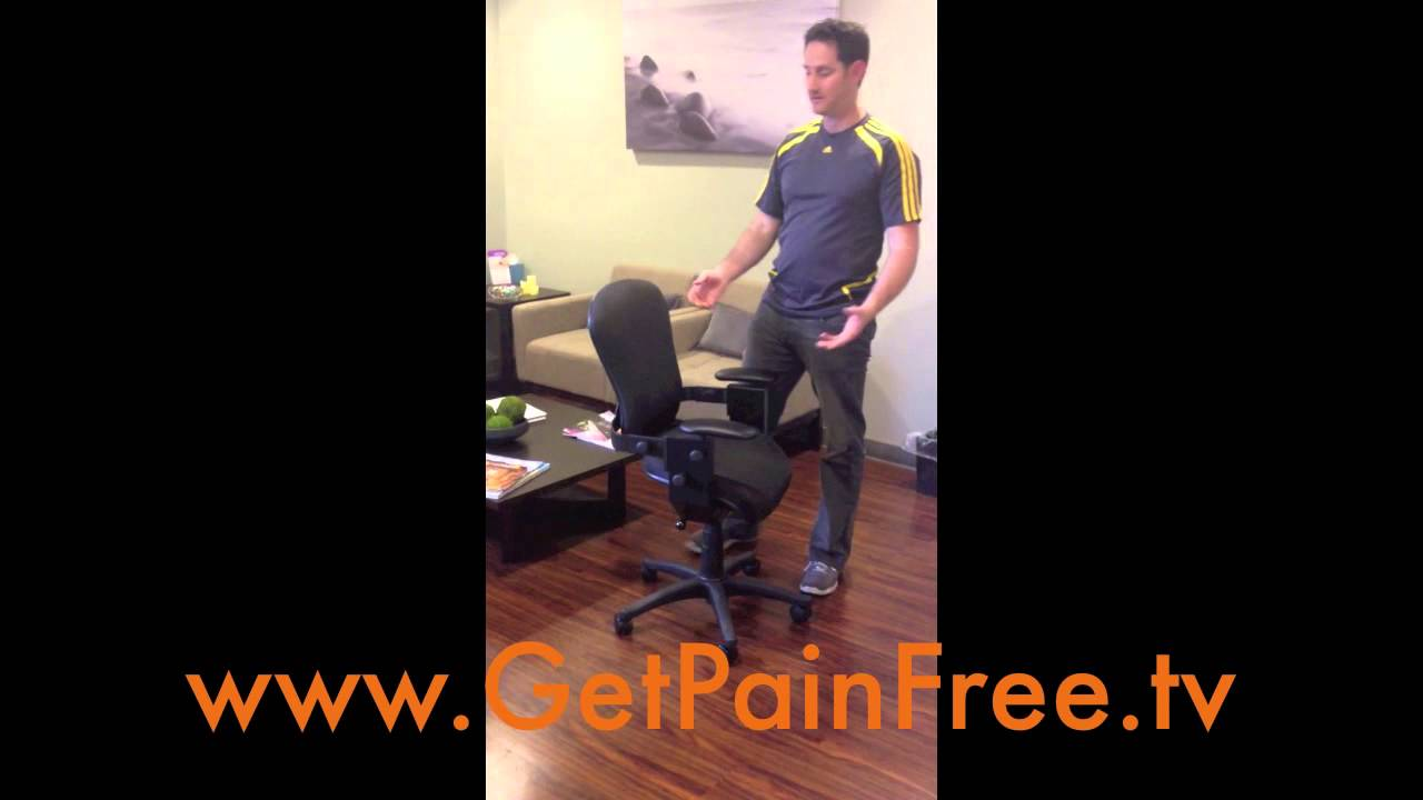 the best office chair for left or right side lower back pain youtube