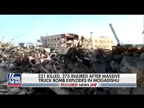 Breaking October 2017 Massive Truck Bombing Massacre in Mogadishu Somalia hundreds killed & injured