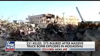 Breaking October 2017 Massive Truck Bombing Massacre in Mogadishu Somalia hundreds killed & inju