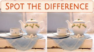 [ Brain games ] Ep.030 Foods_01.Beverage_tea | Spot the difference | photo puzzles | Healing