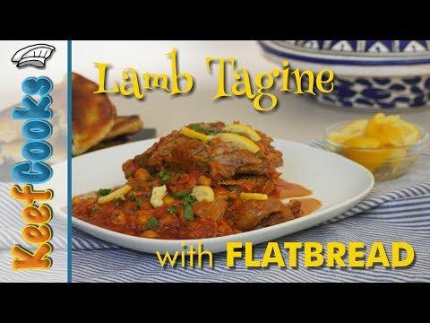 Lamb Tagine with Flatbread | Moroccan Lamb Stew